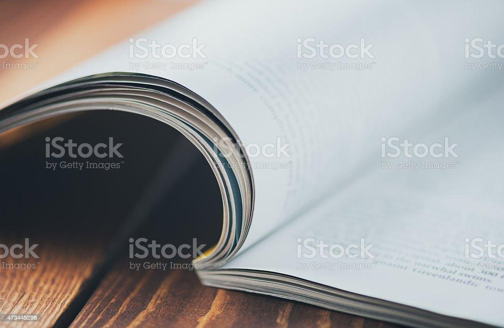 Magazine macro stock photo