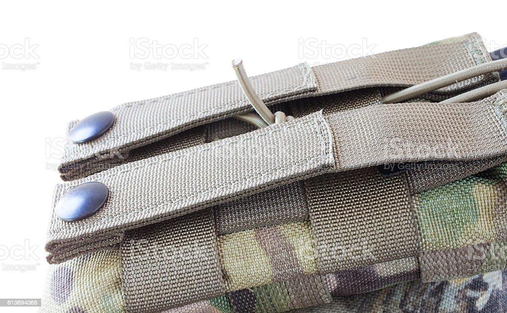 Magazine pouch attachment point stock photo