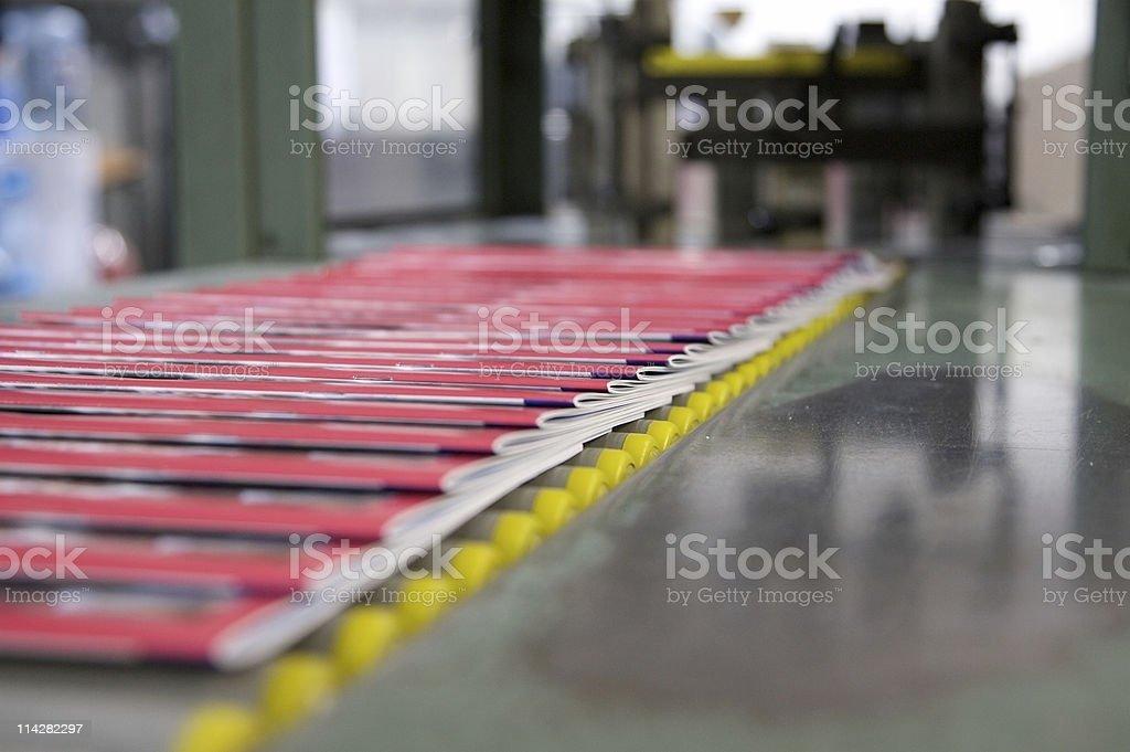 Magazine Production Line... royalty-free stock photo