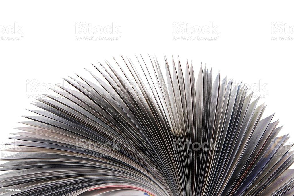 Magazine Roll isolated on white royalty-free stock photo