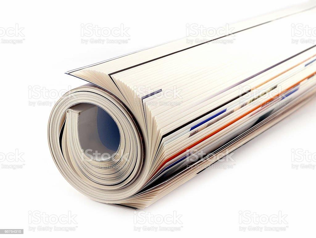 Magazine Roll isolated on white stock photo