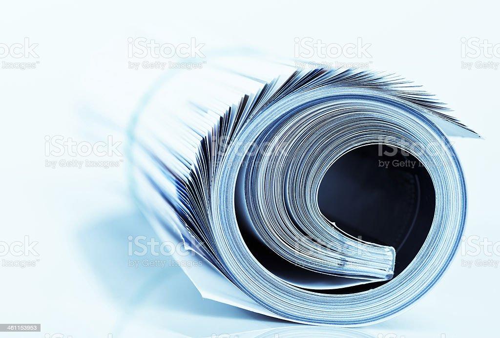 magazine roll stock photo