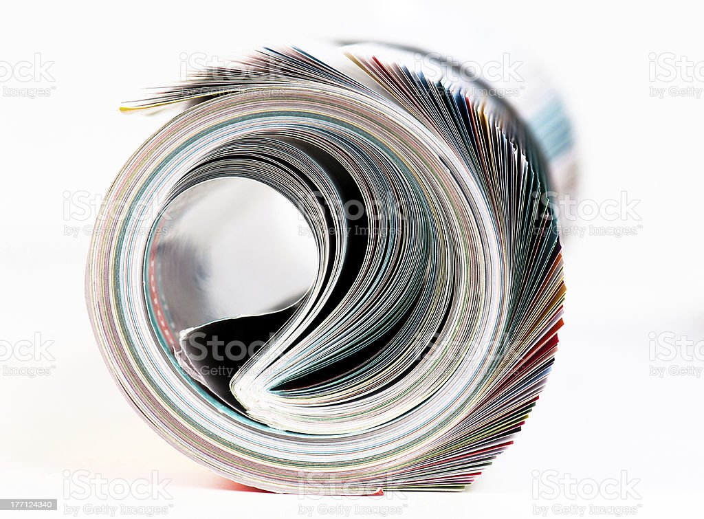 Magazine Roll. Side view. stock photo