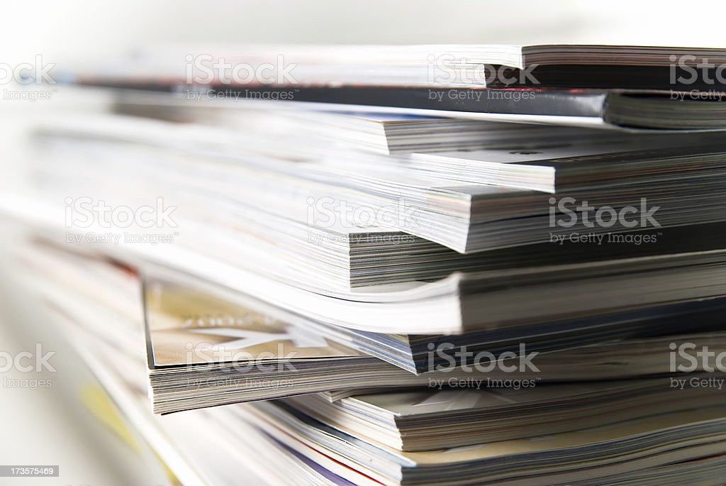 magazine stack royalty-free stock photo