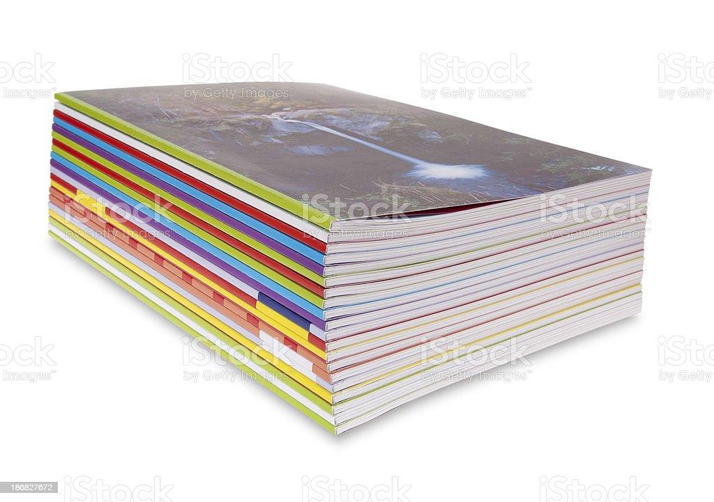 magazine stack royalty-free stock photo
