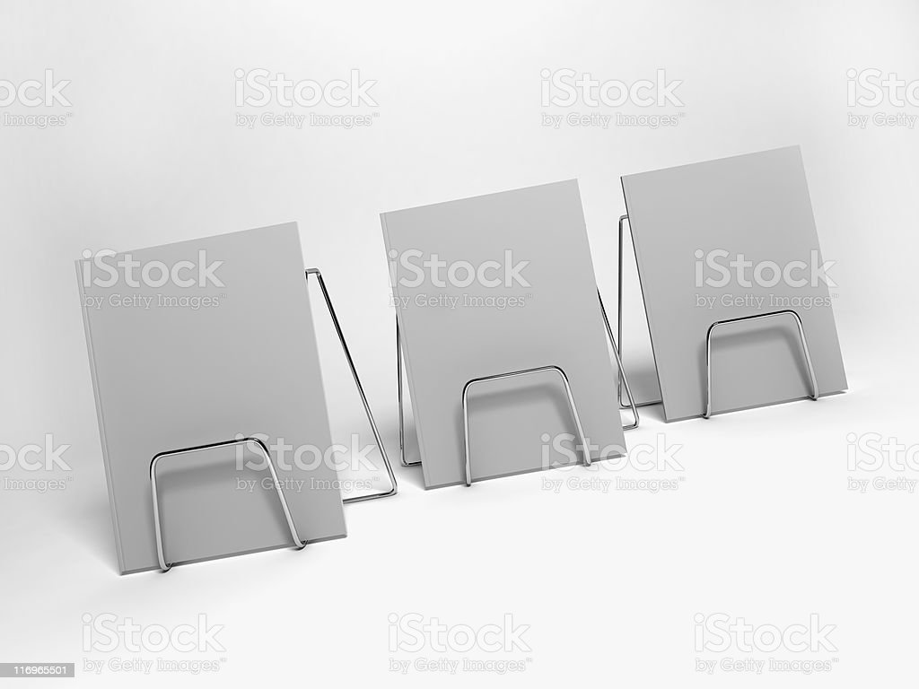 Magazine templates in a row stock photo