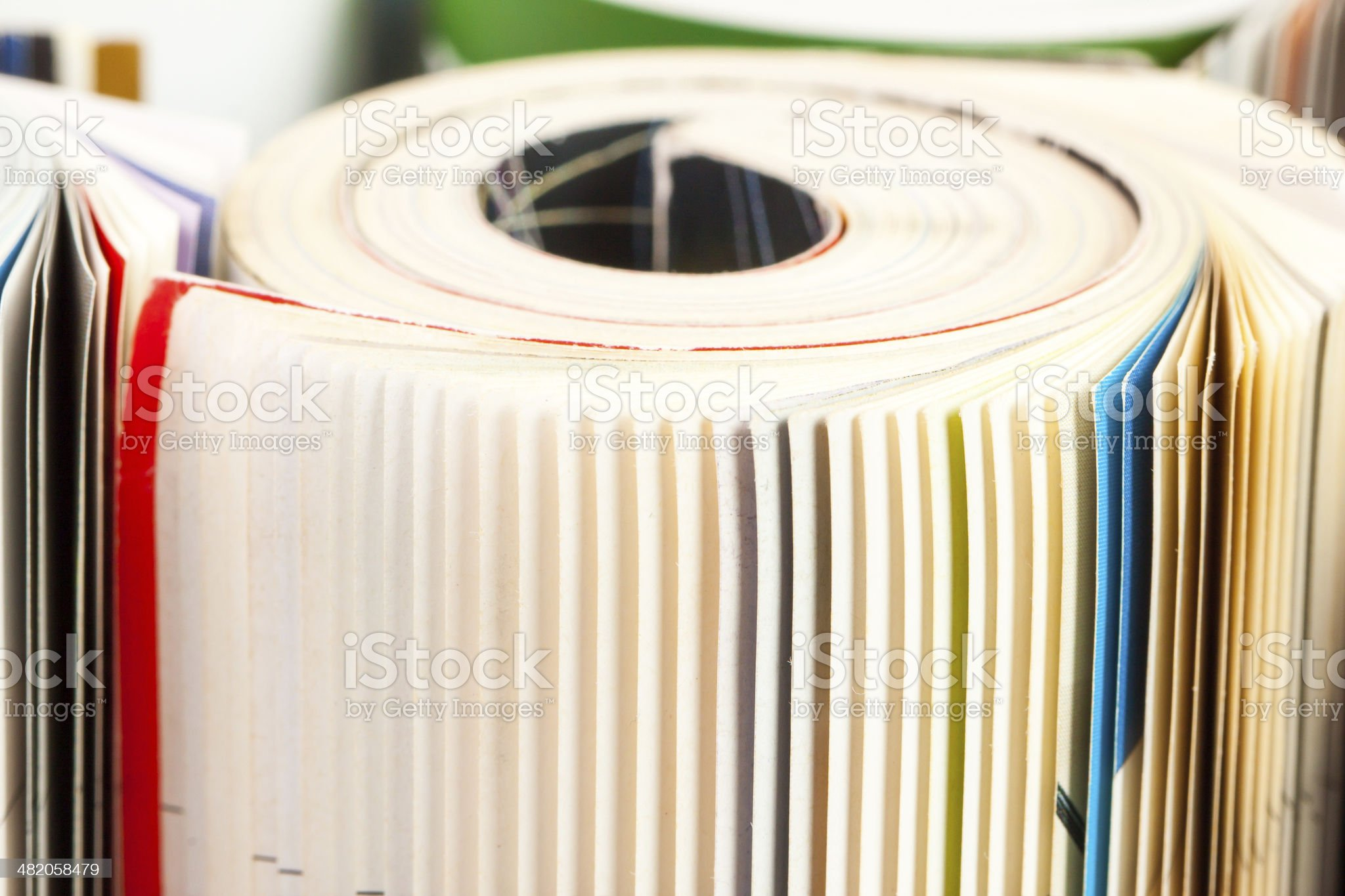Magazines - close up royalty-free stock photo