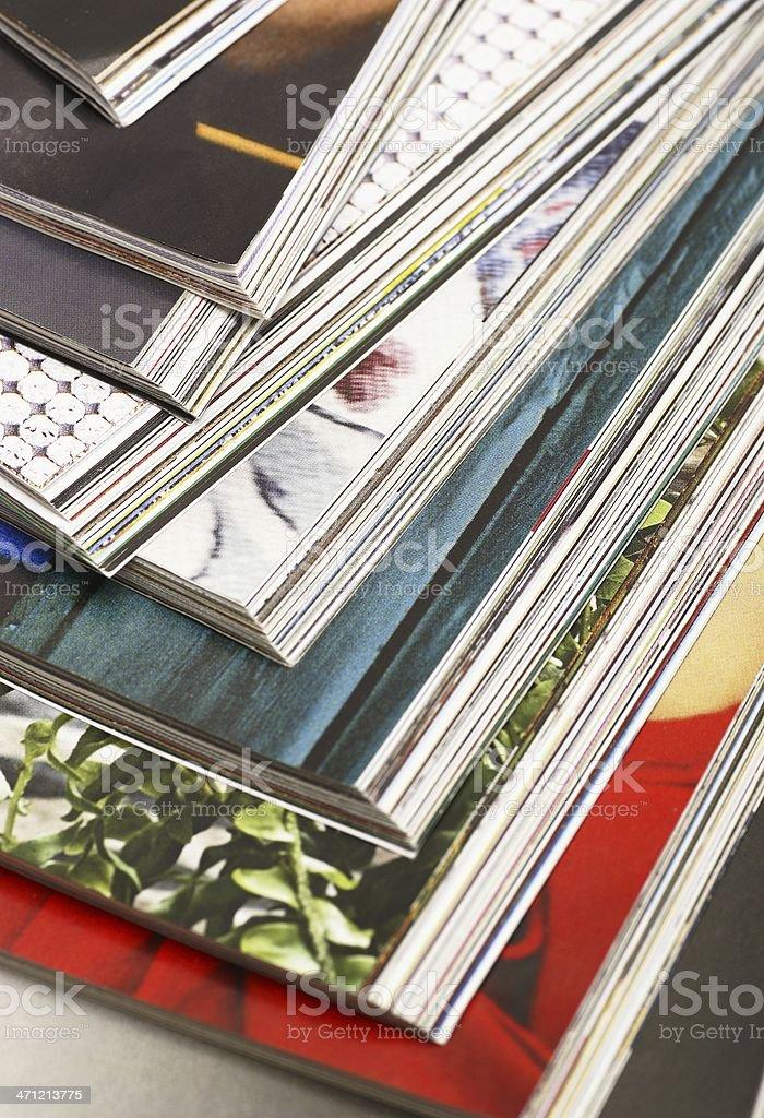 Magazines detail stock photo