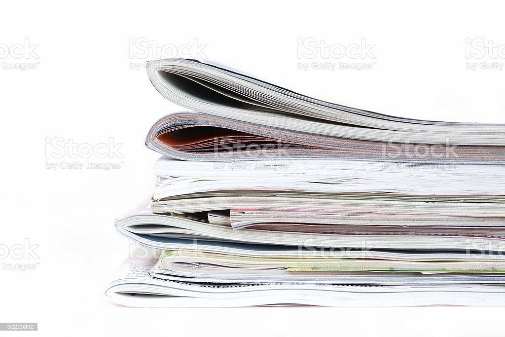 Magazines isolated royalty-free stock photo