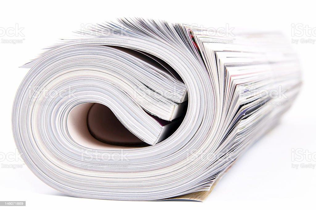 Magazines stock photo