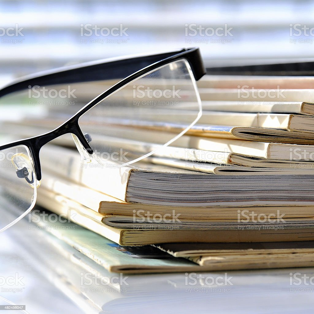 Magazines stock photo