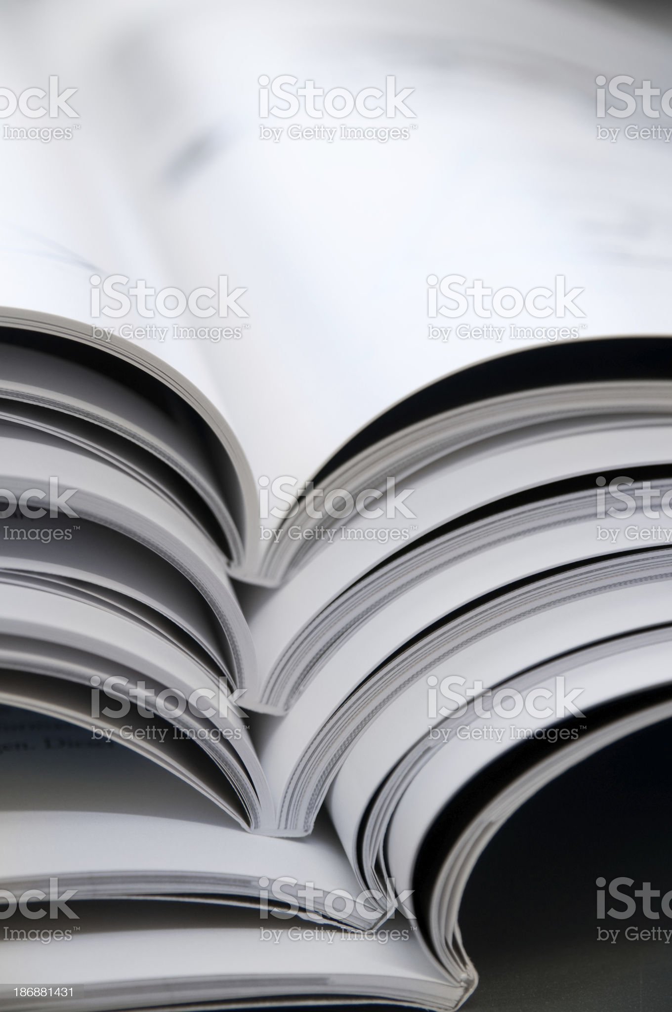 magazines side view royalty-free stock photo