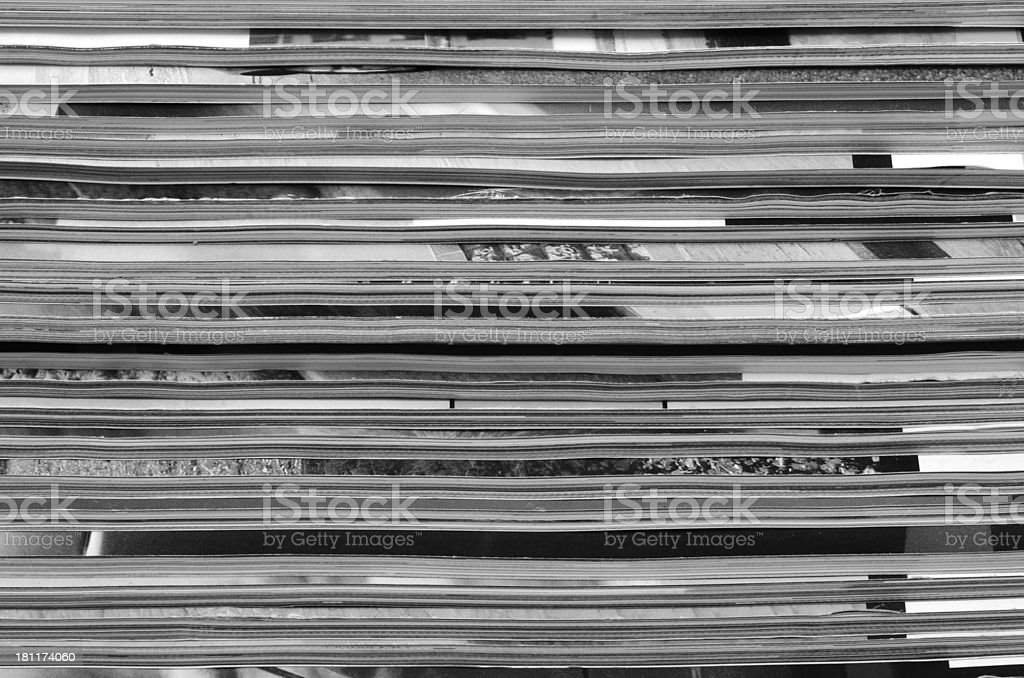 Magazines stack background royalty-free stock photo