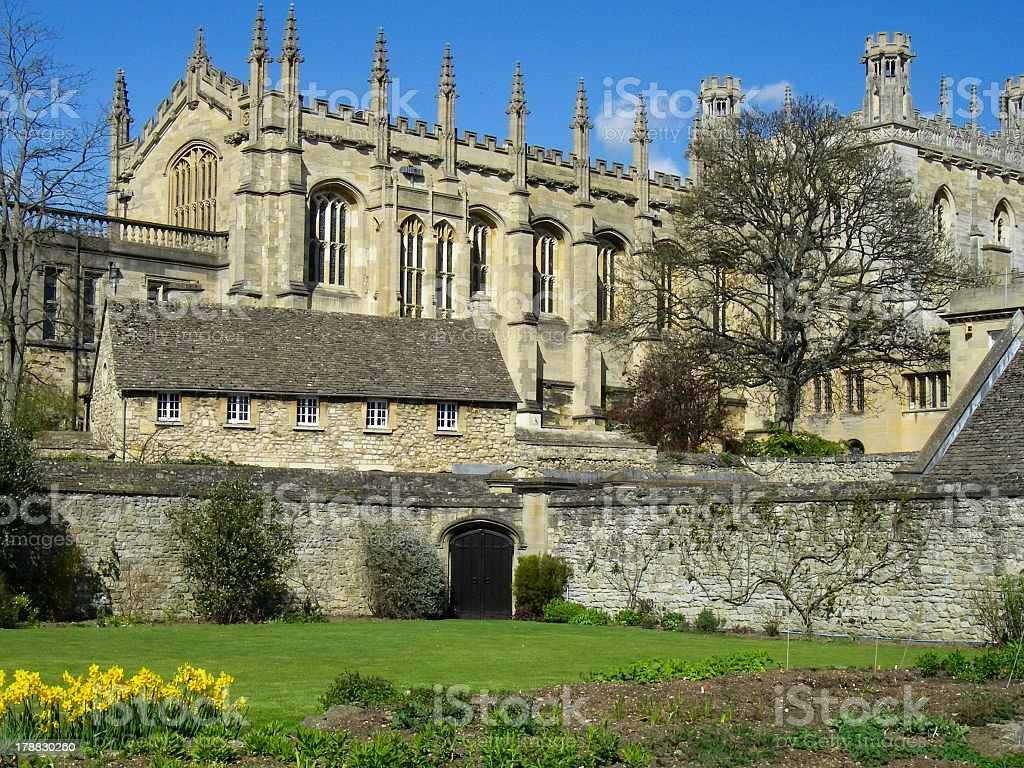 Magdalen College Oxford England royalty-free stock photo