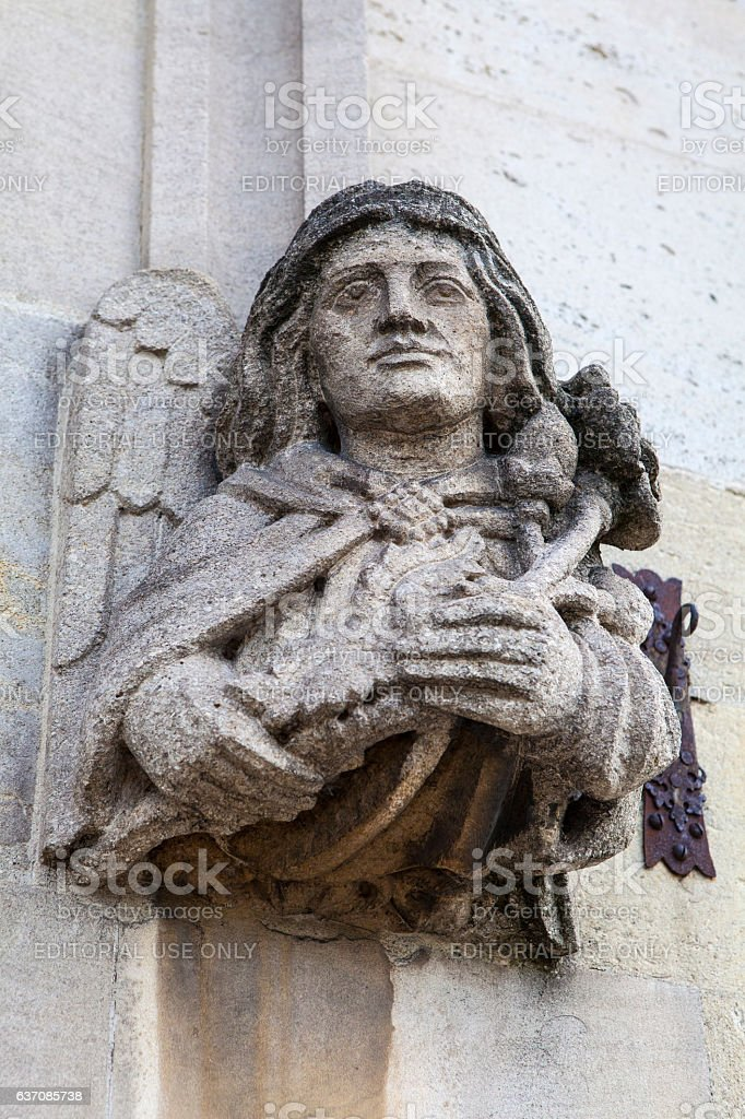 Magdalen College Sculpture in Oxford stock photo