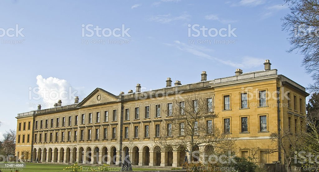 Magdalen College University of Oxford  Building stock photo