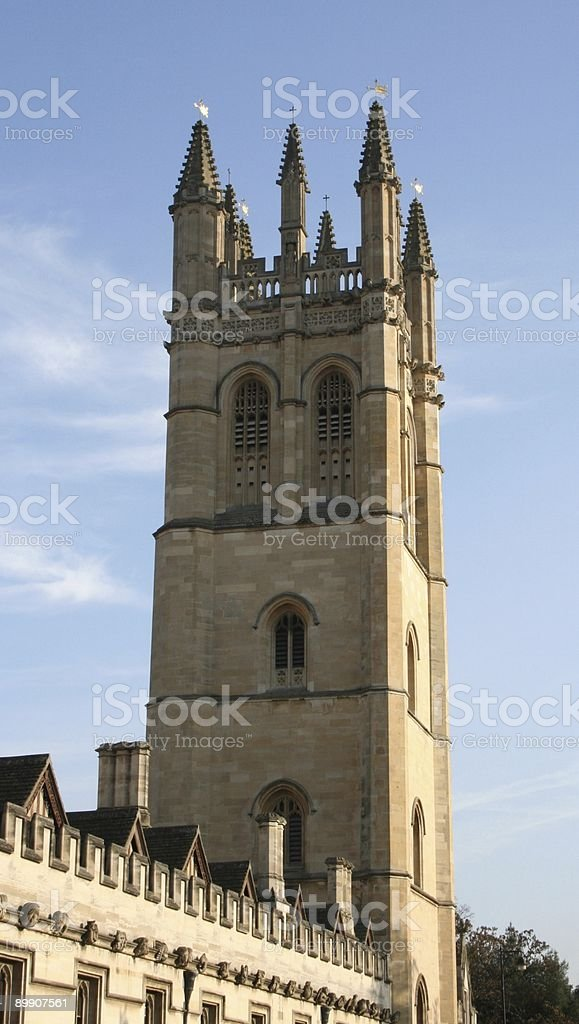Magdalen Tower royalty-free stock photo