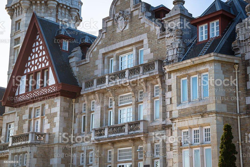 Santander,Spain - April 17, 2014: Magdalena palace in Santander stock photo