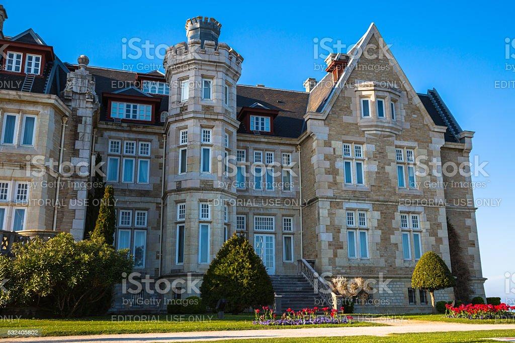 Santander,Spain - April 17, 2014: Magdalena palace in Santander, stock photo