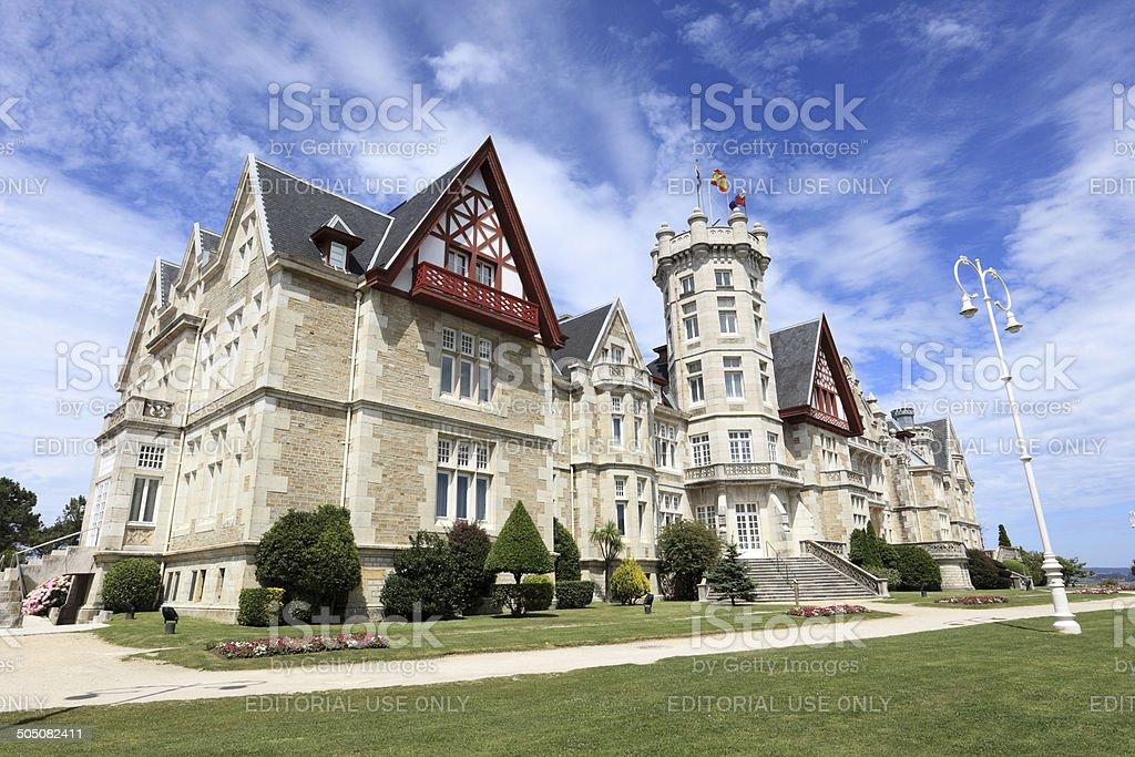 Magdalena palace in Santander, Spain stock photo