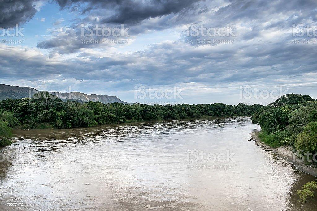 Magdalena river stock photo
