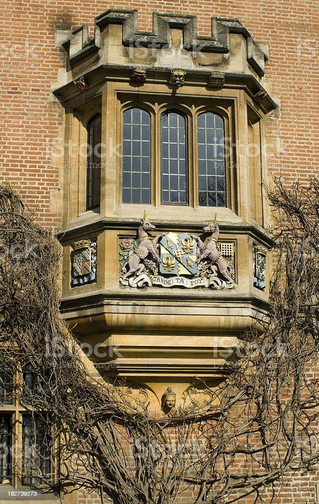 Magdalene college window Cambridge stock photo