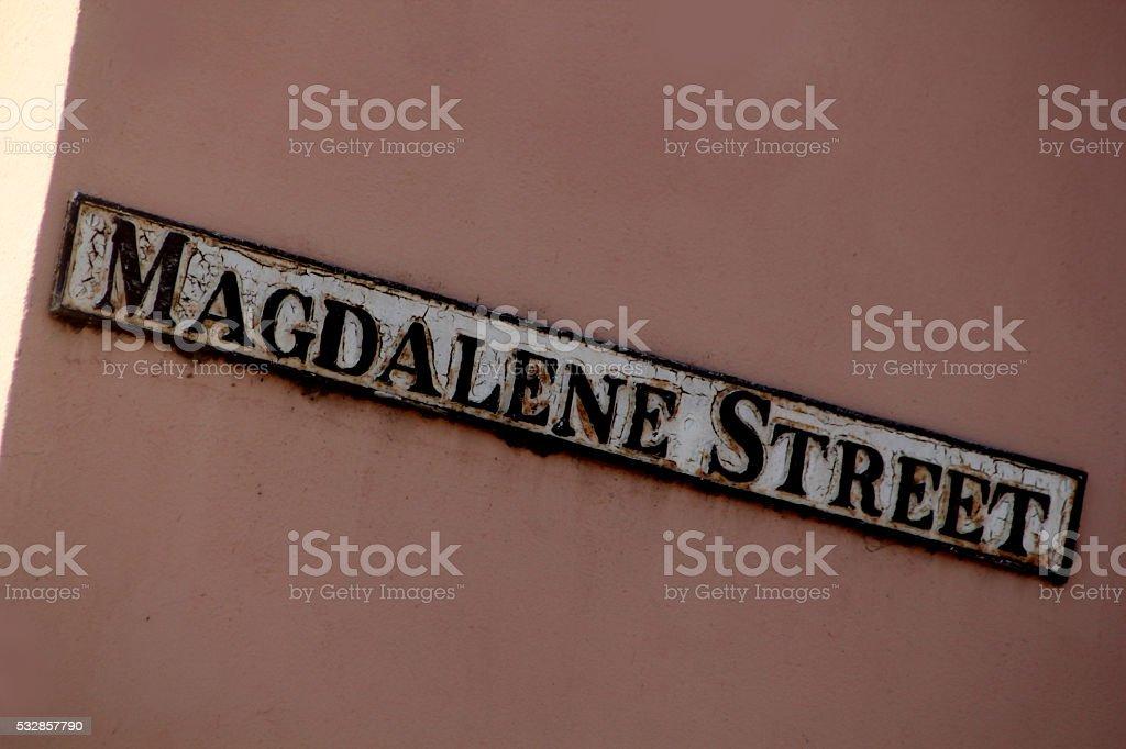Magdalene Street Cambridge stock photo