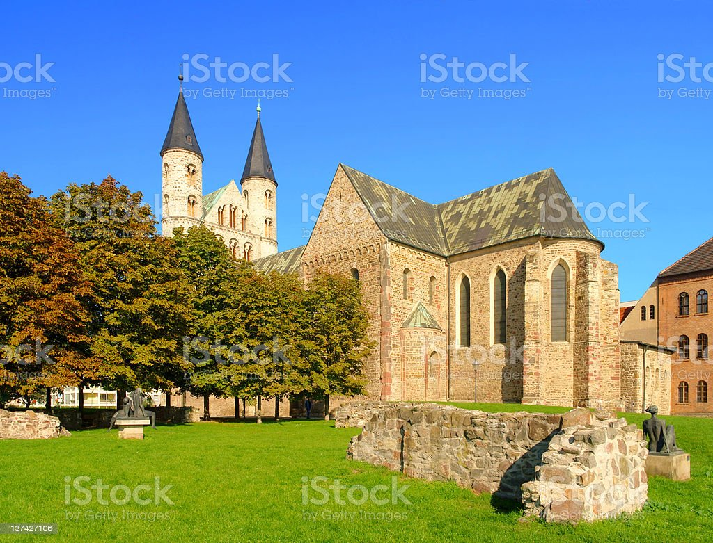 Magdeburg abbey stock photo
