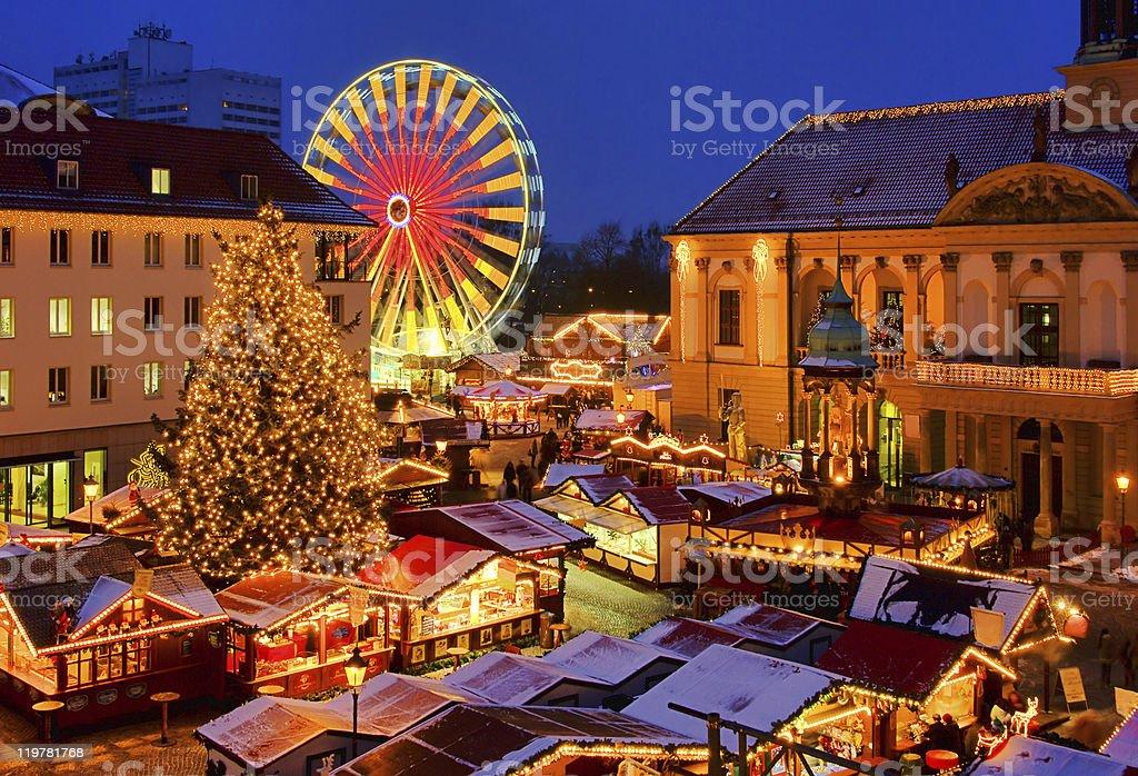 Magdeburg christmas market stock photo