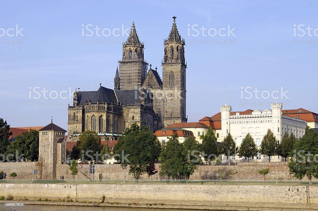 Magdeburg church stock photo