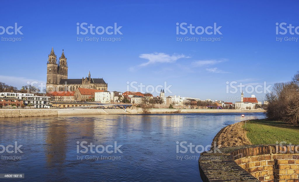 Magdeburg Riverview stock photo