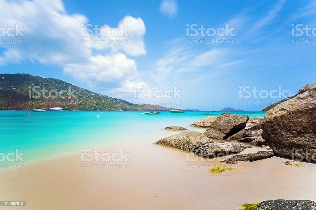 Magens Bay beach at Saint Thomas, US Virgin Island stock photo