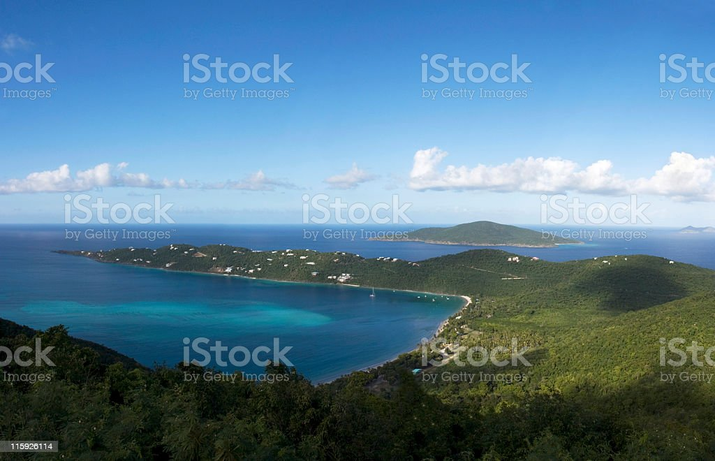 Magens Bay Beach - US Virgin Islands royalty-free stock photo