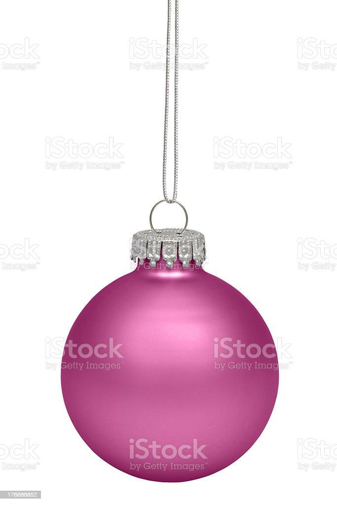 Magenta Cristmas Ornament royalty-free stock photo