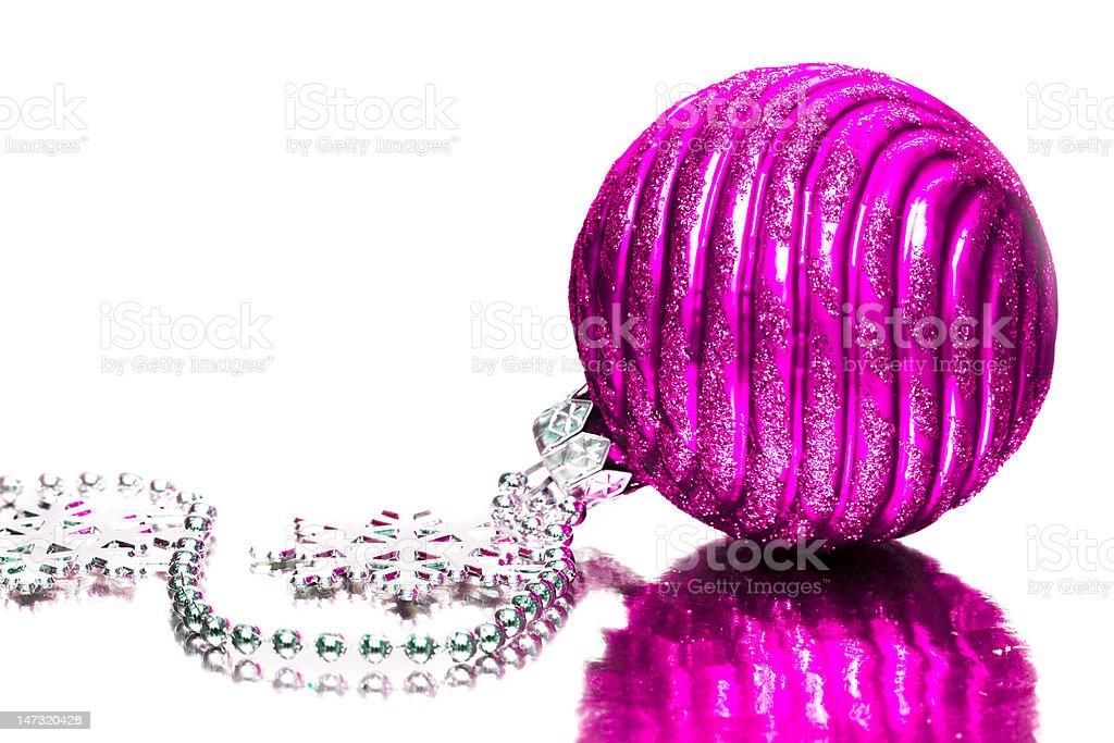 magenta decoração festiva de fundo prateado foto de stock royalty-free