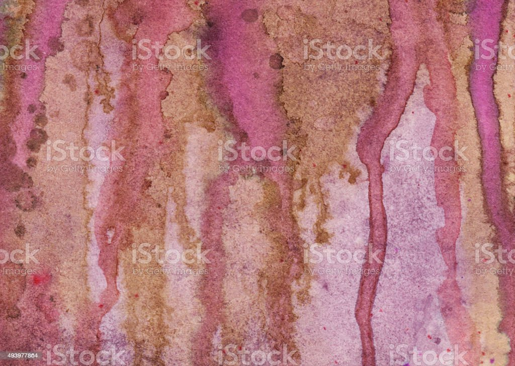 Magenta pink and brown colors with drips of paint stock photo