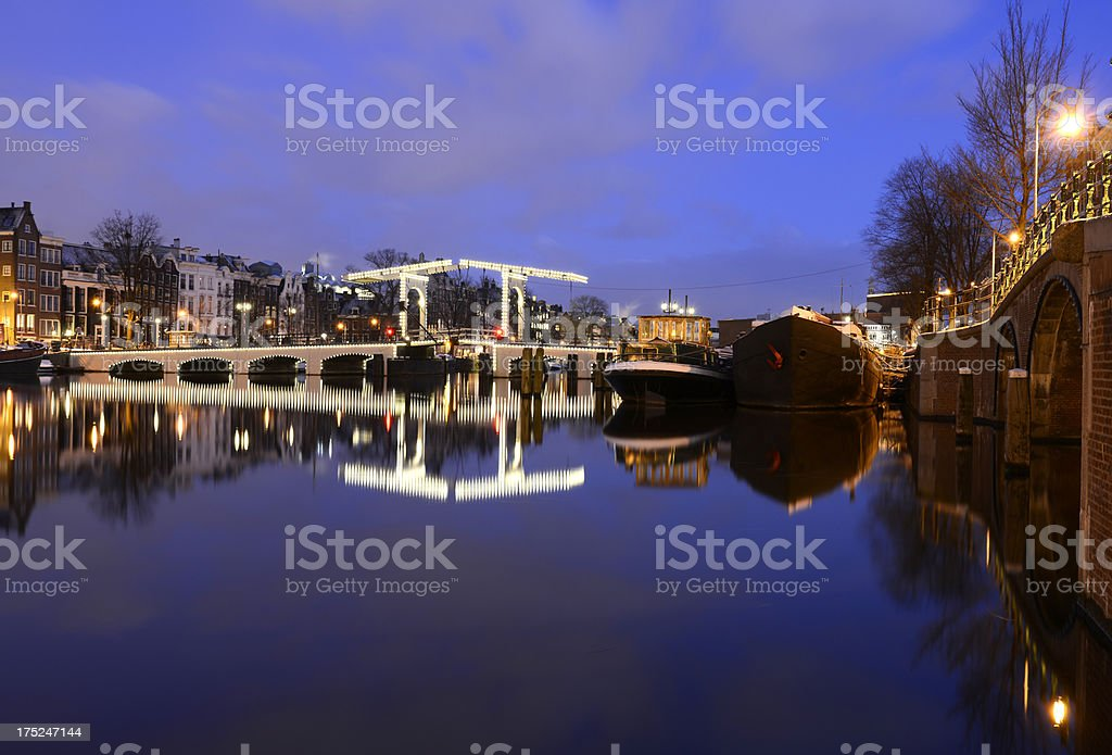 Magere Bridge. Amsterdam. royalty-free stock photo
