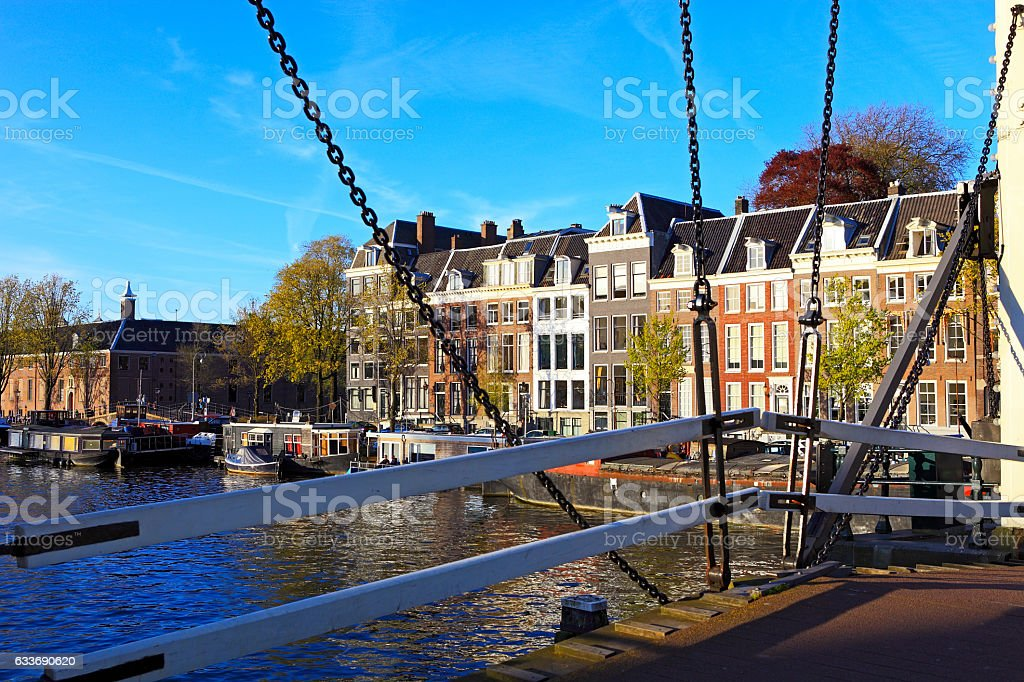 Magere Brug, Amsterdam stock photo