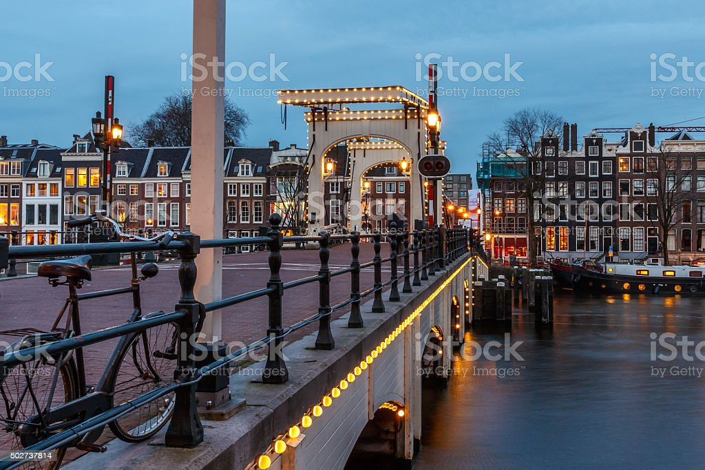 Magere brug stock photo