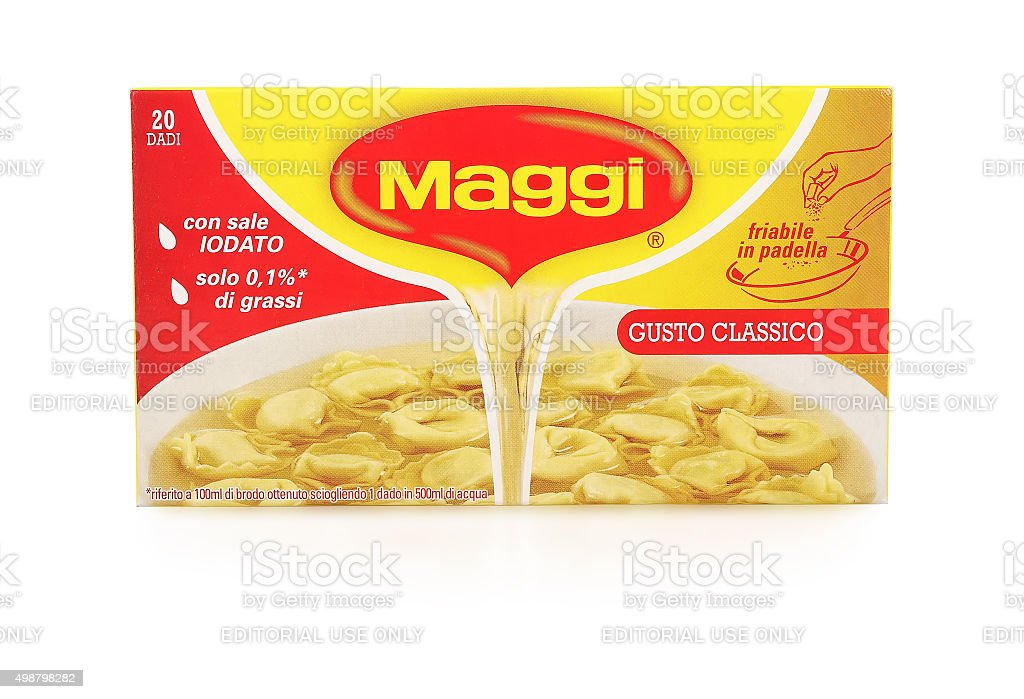 Maggi cubes stock photo