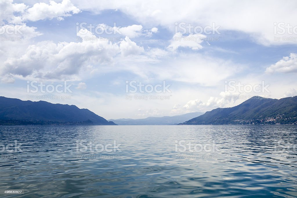 Maggiore Lake, Italy - Panoramic view royalty-free stock photo