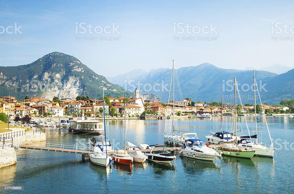 Maggiore Lake, Italy stock photo