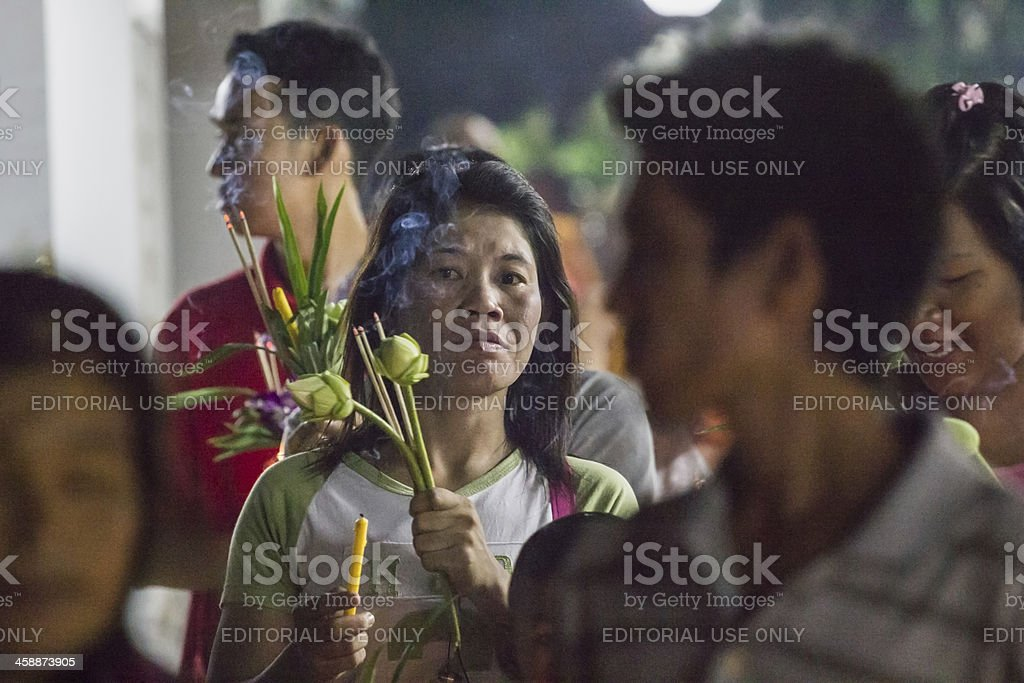Magha Puja Day stock photo