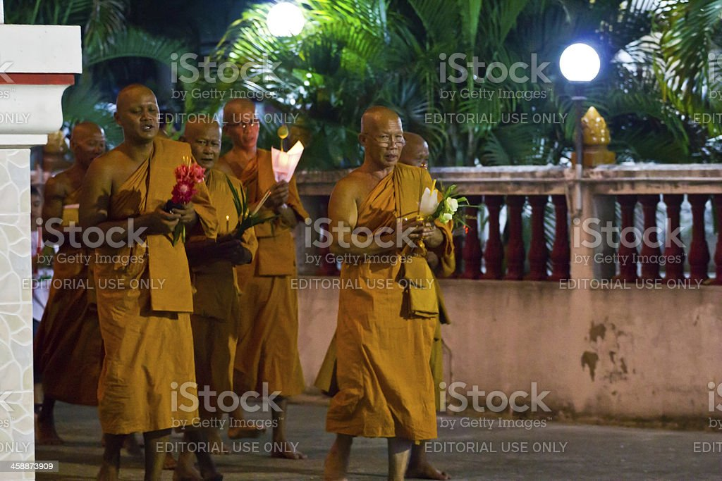 Magha Puja Day royalty-free stock photo