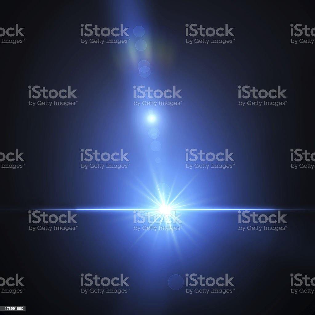 Magic blue flares stock photo