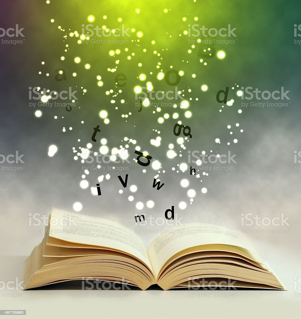 magic book stock photo