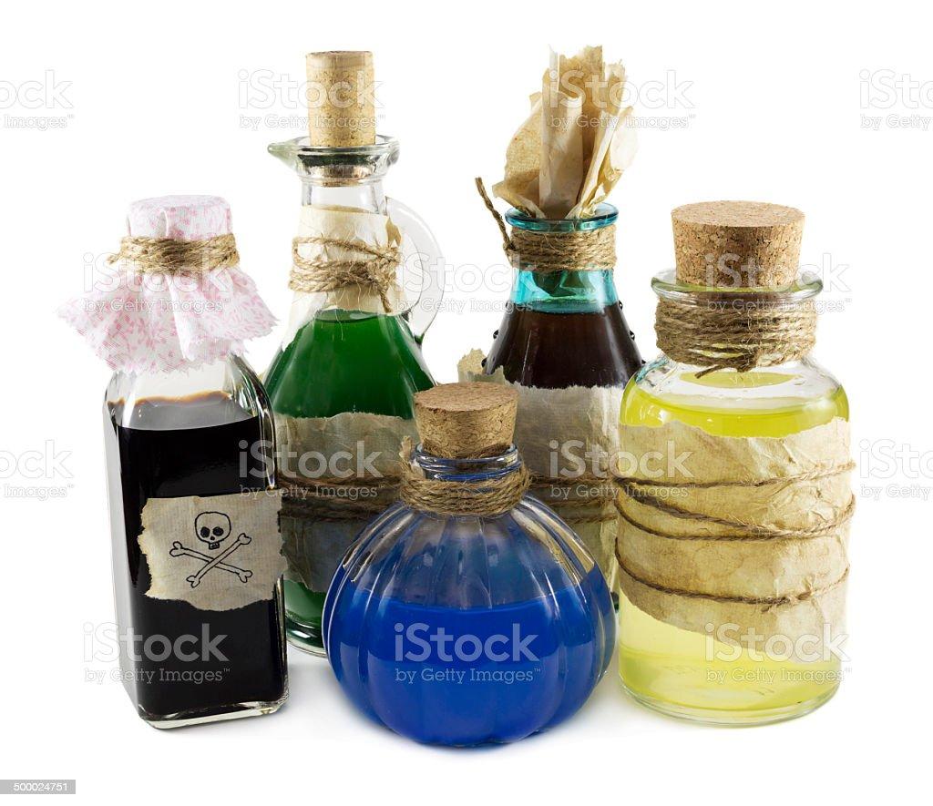 Magic bottles stock photo