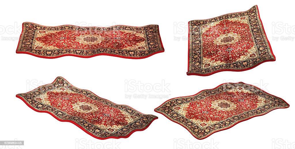 magic carpet isolated on the white background, set stock photo