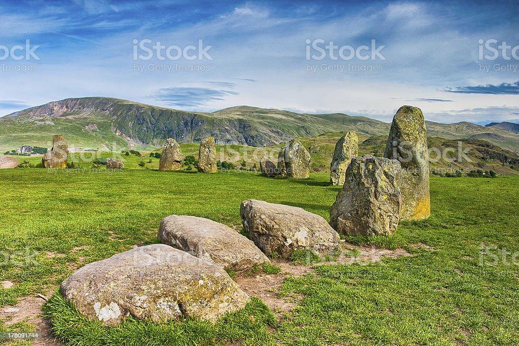 Magic circle on the hill stock photo
