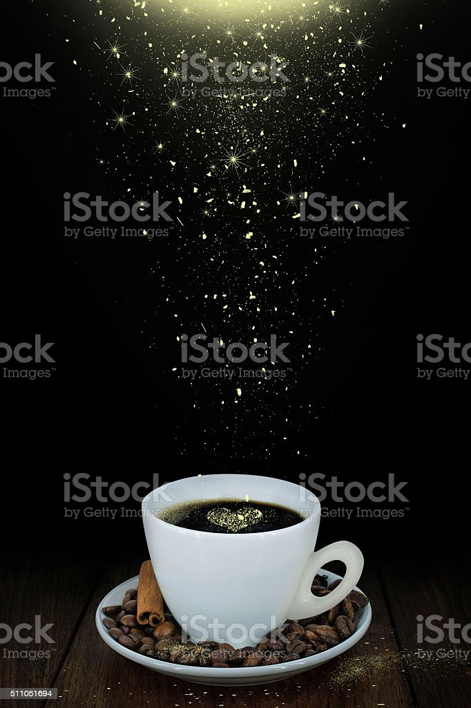 Magic coffee stock photo